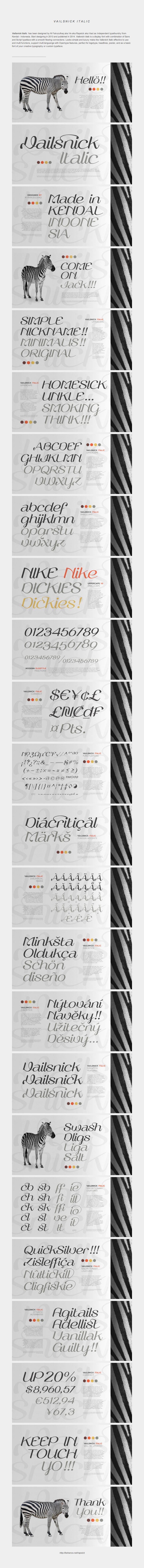 Vailsnick Italic Font by M Fairuzulhaq by vastudio.deviantart.com on @deviantART