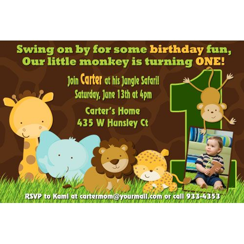 23 Best Jungle Birthday Party Images On Pinterest