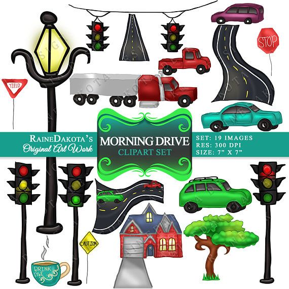 Traffic Clipart Driving To Work Printable Clip art Car