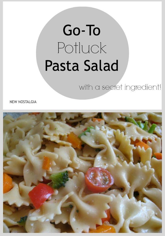 Best potluck pasta salad. #pastasalad