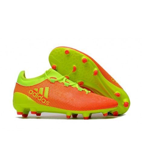 Adidas X 17.1 FG FODBOLDSTØVLE BLØDT UNDERLAG Mænd Fodboldstøvler Orange Gul