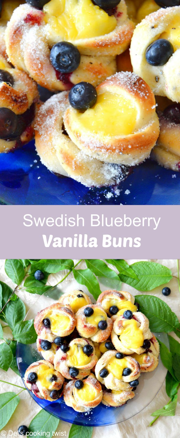 Baked with fresh berries, a delicious vanilla cream and a kick of cardamom, these sweet buns are off the chart! | Del's cooking twist