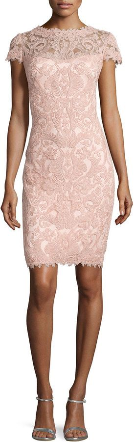 Tadashi Shoji Lace Embroidered Sheath Dress, Petal Bloom