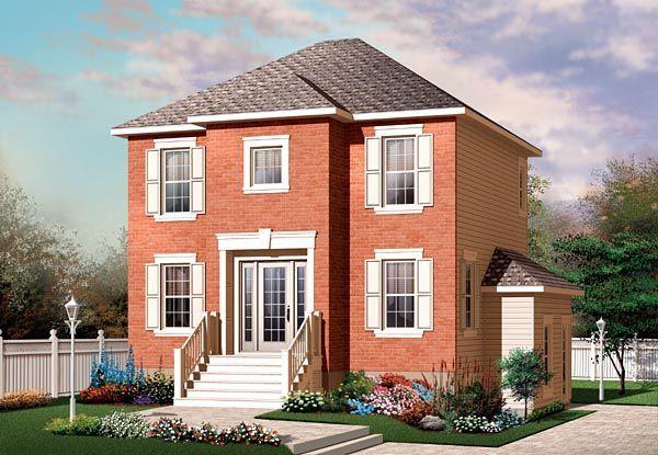 European Traditional House Plan 64862 Elevation