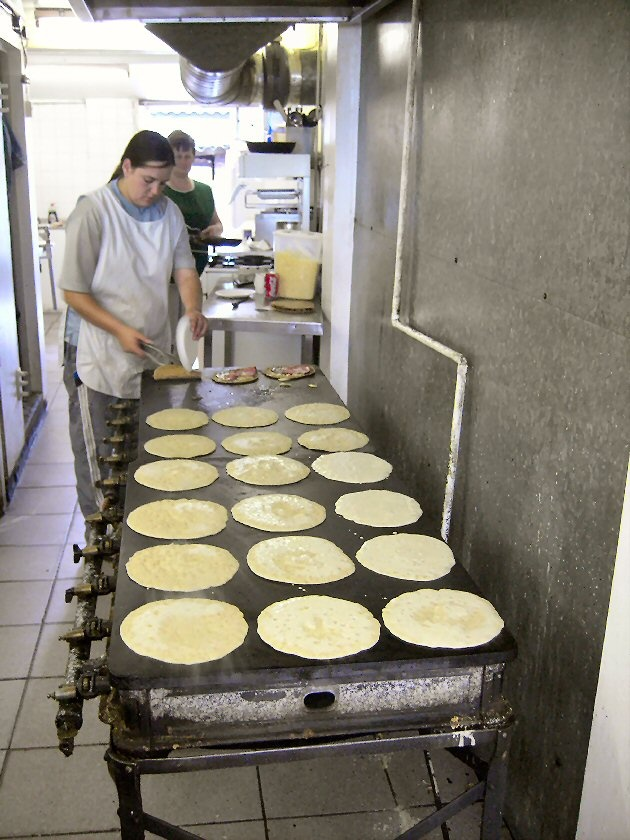 London Road Oatcakes, in Stoke ...how I miss these