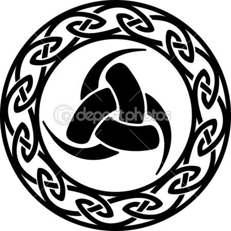 Triple Horn of Odin, Celtic endless knot — Stock Illustration #22001741