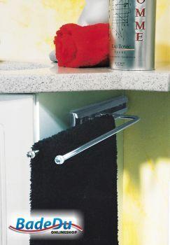 Handtuchhalter mit Auszug zweiarmig, Chrom matt