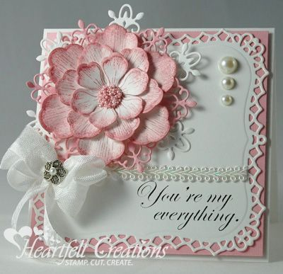 Heartfelt Creations | Pink Arianna Blooms--Oh this card is gorgeous, I just love it!