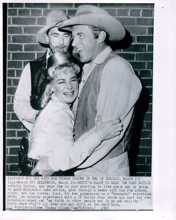 Vintage 1965 Betty Hutton Jim Arness Ken Curtis Gunsmoke Candid TV Press Photo | eBay