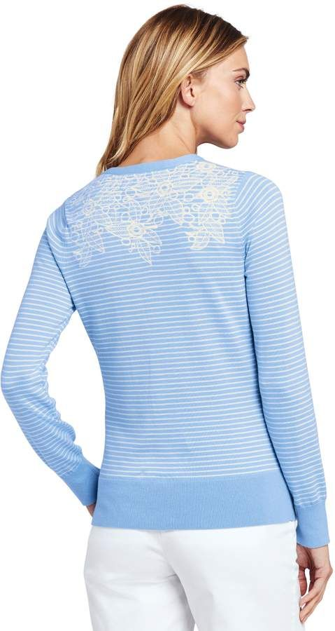 b7b6480cd68 Lands' End Lands'end Women's Supima Cotton Embroidered Cardigan Sweater # Supima#Women#Lands