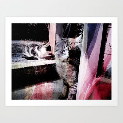 Cats Art Print by Zsófi Porkoláb