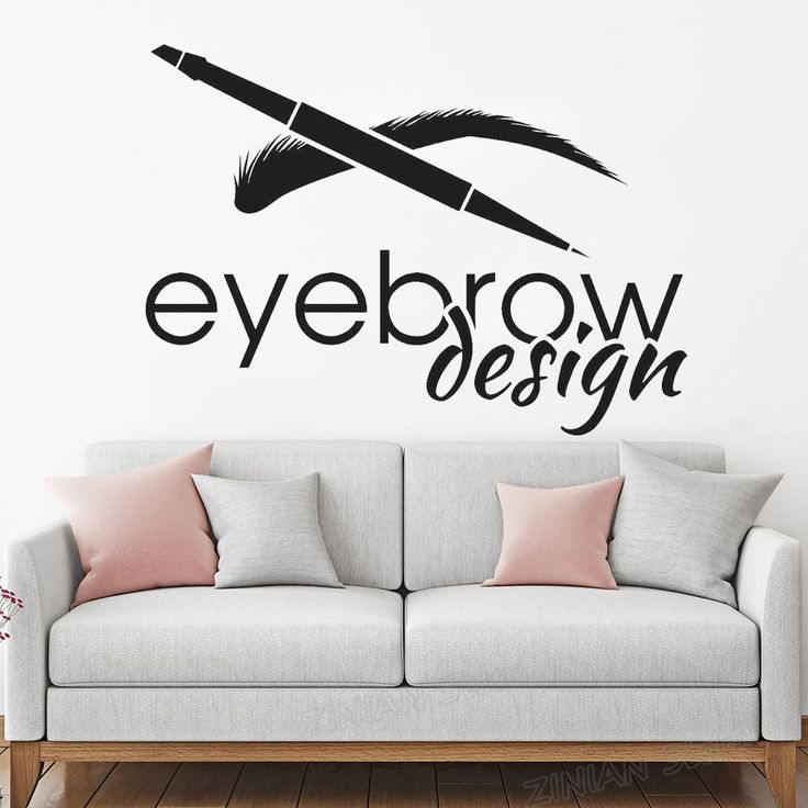 Us 863 28 Off Eyebrow Design Beauty Salon Logotype Brow Art Wall Stickers Removable Wall Decor Mural Eyelash Make Up Wall Decal For Girls Z866 In