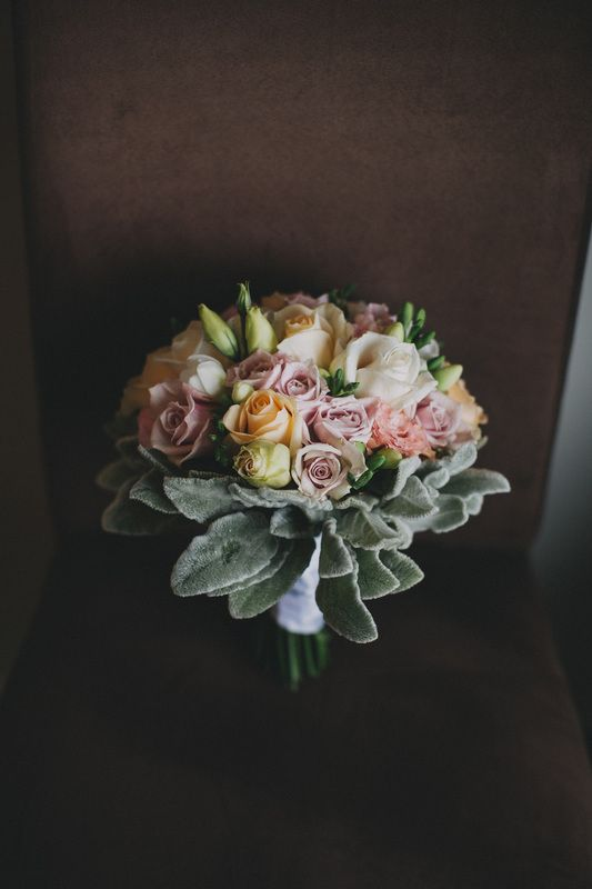 Created by Nature; Wedding Flowers designed for you. Bridal Bouquet of Pastel Roses, Lisianthus Photo by Bayly & Moore
