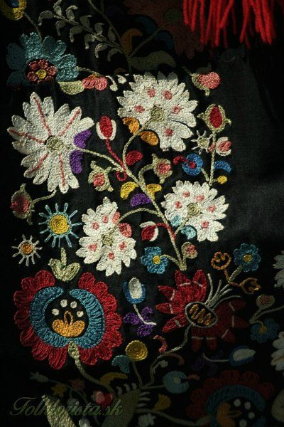 detail of a Slovak folk costume (kroj)
