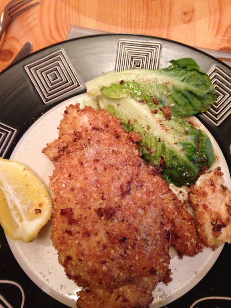 Here's my hazelnut and Parmesan crusted chicken from James Martin more home comforts which was very easy and yummy