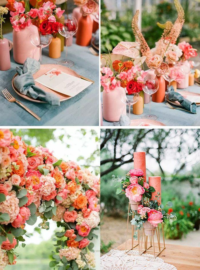 Living Coral Wedding Design Ideas Orange Wedding Ideas Wedding