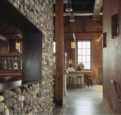 railing or divider wall / the elements: rock brick wood metal stone