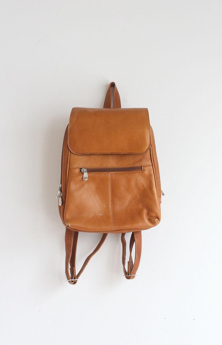 Vintage Leather Backpack $45