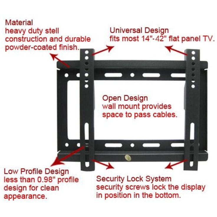 Hot sales! Universal TV Wall Mount Bracket for Most 14 ~ 42 Inch HDTV Flat Panel TV