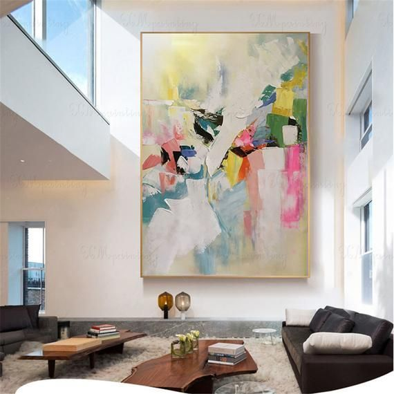 Decorative Wall Paintings For Living Room In 2020 Abstract
