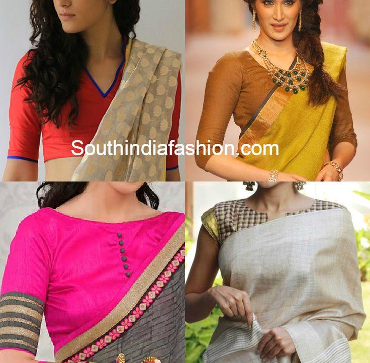 blouse_designs_for_corporate_sarees.jpg 786×772 pixels