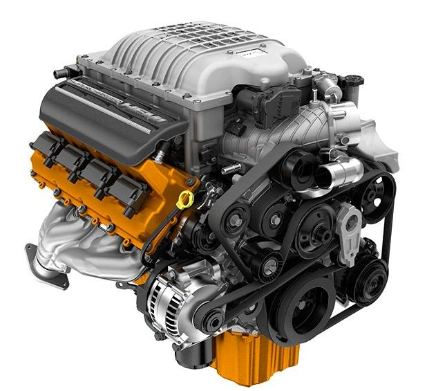Hellcat engine. 707 Horsepower, 650 LB.-FT. Torque.