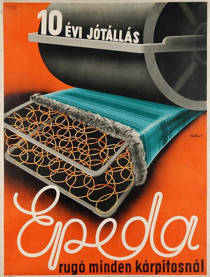 BORTNYIK SÁNDOR  Epeda rugó minden kárpitosnál  1933  papír, litográfia  19–21. századi Gyűjtemény / Grafikai Osztály