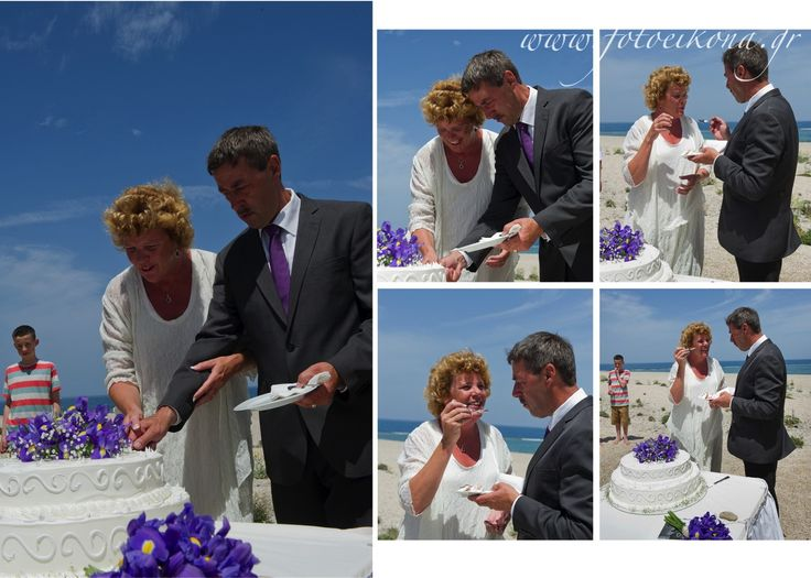 Love never gets old. Wedding photography on a beautiful beach #Lefkas #Ionian #Greece #wedding #weddingdestination #weddingcake Eikona Lefkada Stavraka Kritikos