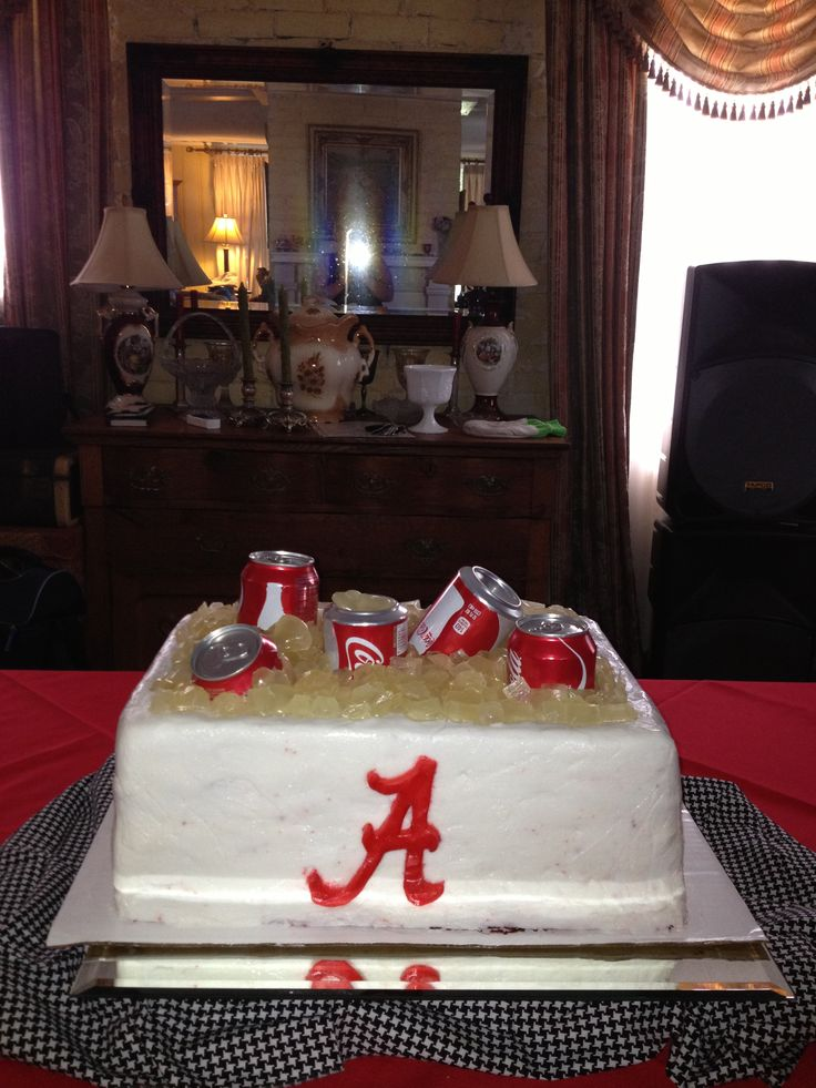 John S Groom Cake An Alabama Cooler Cake Inside Red