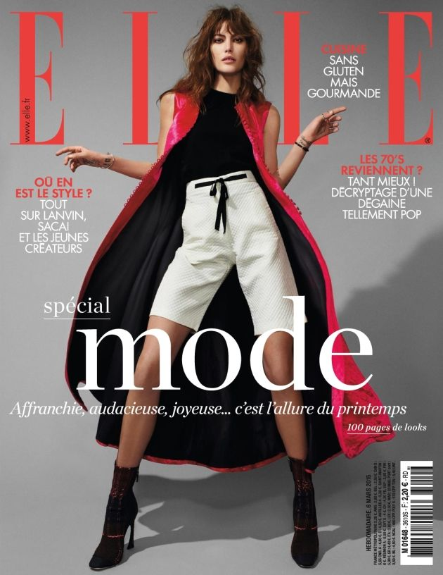 Catherine McNeill by Jean Baptiste Mondino for Elle France March 2015 cover dior