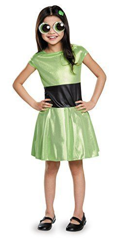 Disguise Buttercup Classic Powerpuff Girls Cartoon Network Costume, Small/4-6X