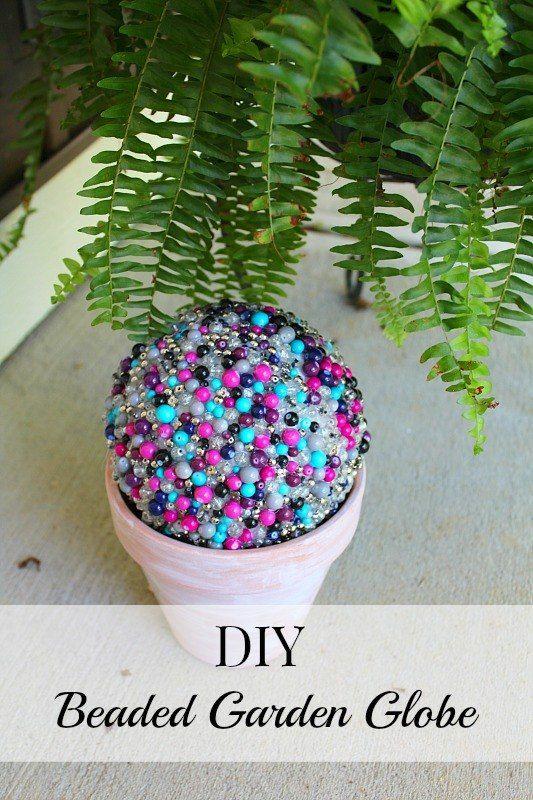 Make a Bright Beaded Garden Globe