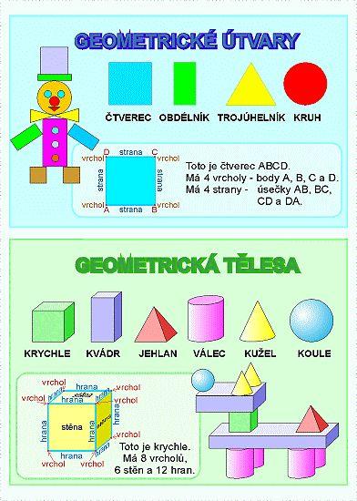 geometrická tělesa pracovní list - Hledat Googlem
