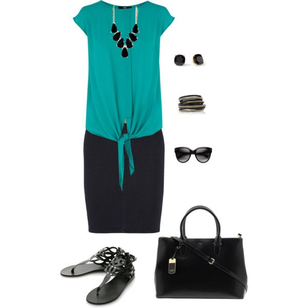 Teal outfit