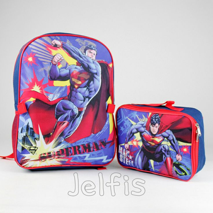 Jelfis.com - Dc Comics Superman Backpack and Lunch Bag Attachable Set - Boys NOT INSULATED, $17.99 (http://www.jelfis.com/dc-comics-superman-backpack-and-lunch-bag-attachable-set-boys-not-insulated/)