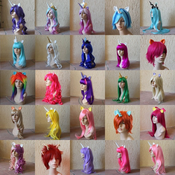 Fabbo color unicorn wigs on Etsy -- this is officially my favorite Etsy store ever and forever.