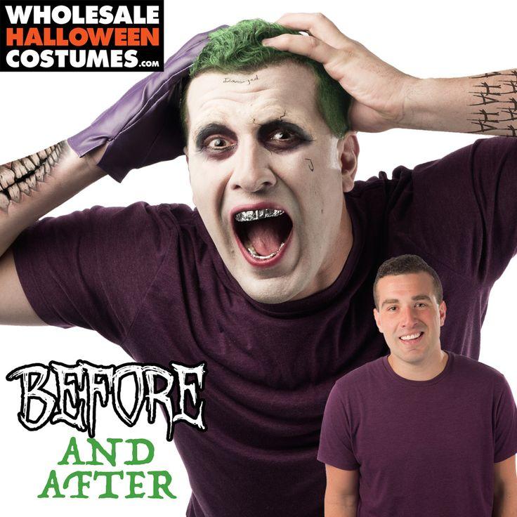 Jared Leto's Joker Makeup Tutorial from WholesaleHalloweenCostumes.com