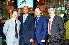Our coaches with Cavs head coach Byron Scott