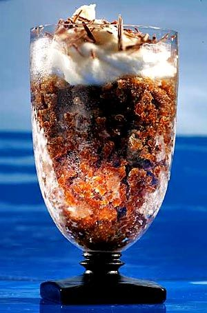 ....an espresso granita with white chocolate cream.....