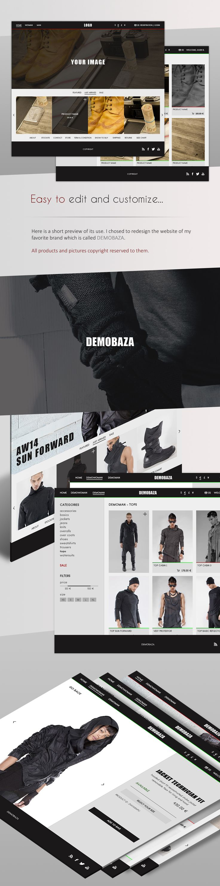 eCommerce Template for Clothing Store PSD