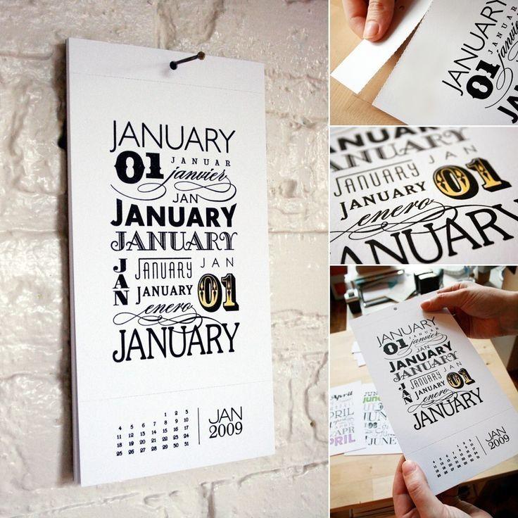 type calendars