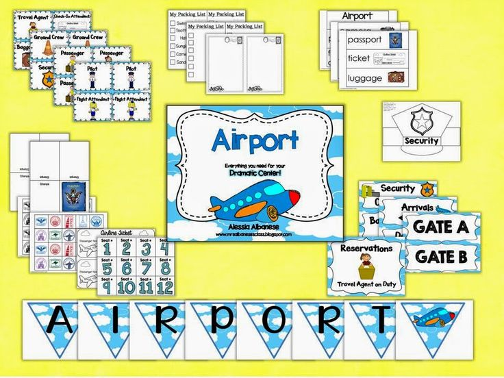 Mrs. Albanese's Kindergarten Class: Airport Dramatic Play Centre