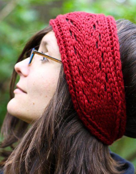 Knit Lace Headband Pattern : 17 Best images about Hat Knitting Patterns on Pinterest ...