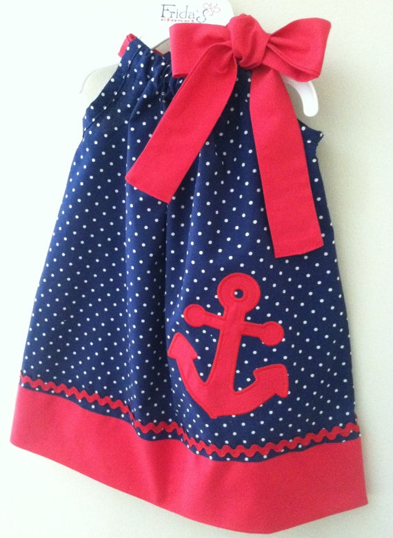 New Summer Nautical Anchor pillowcase style dress by fridascloset1, $26.00
