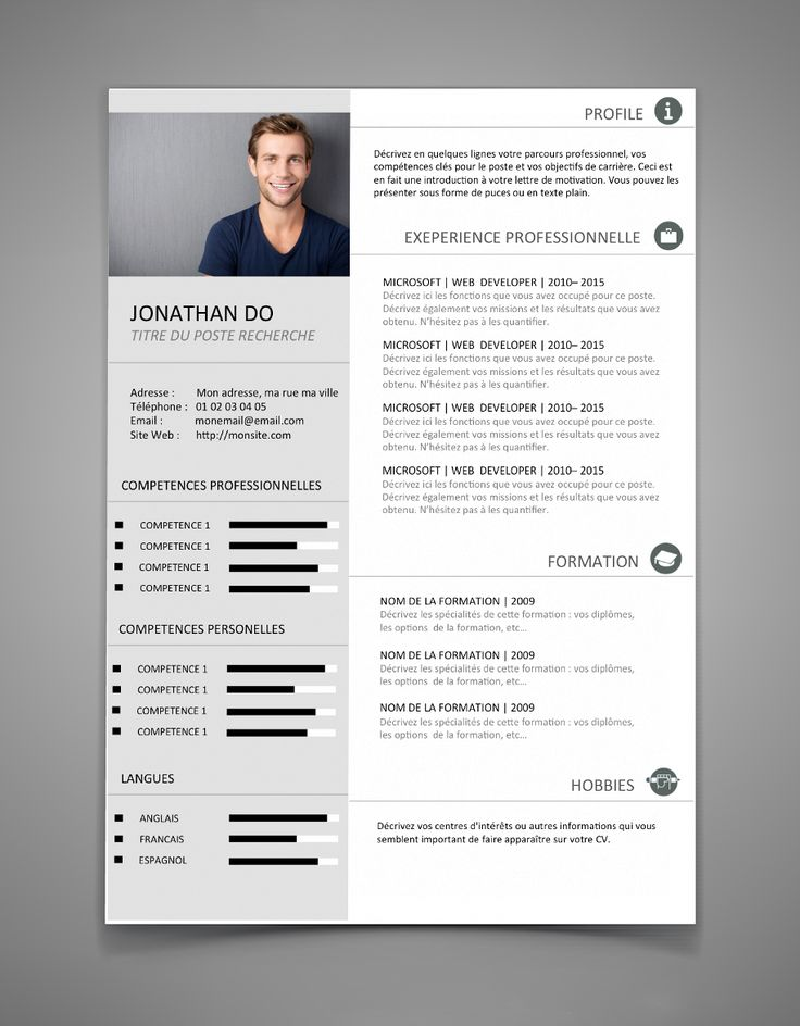 9 best CV images on Pinterest Cv template, Resume design and - resume template microsoft word 2016