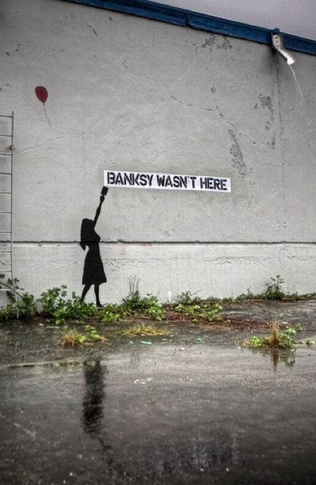 Banksy wasnt here.  Awesome. I love him.