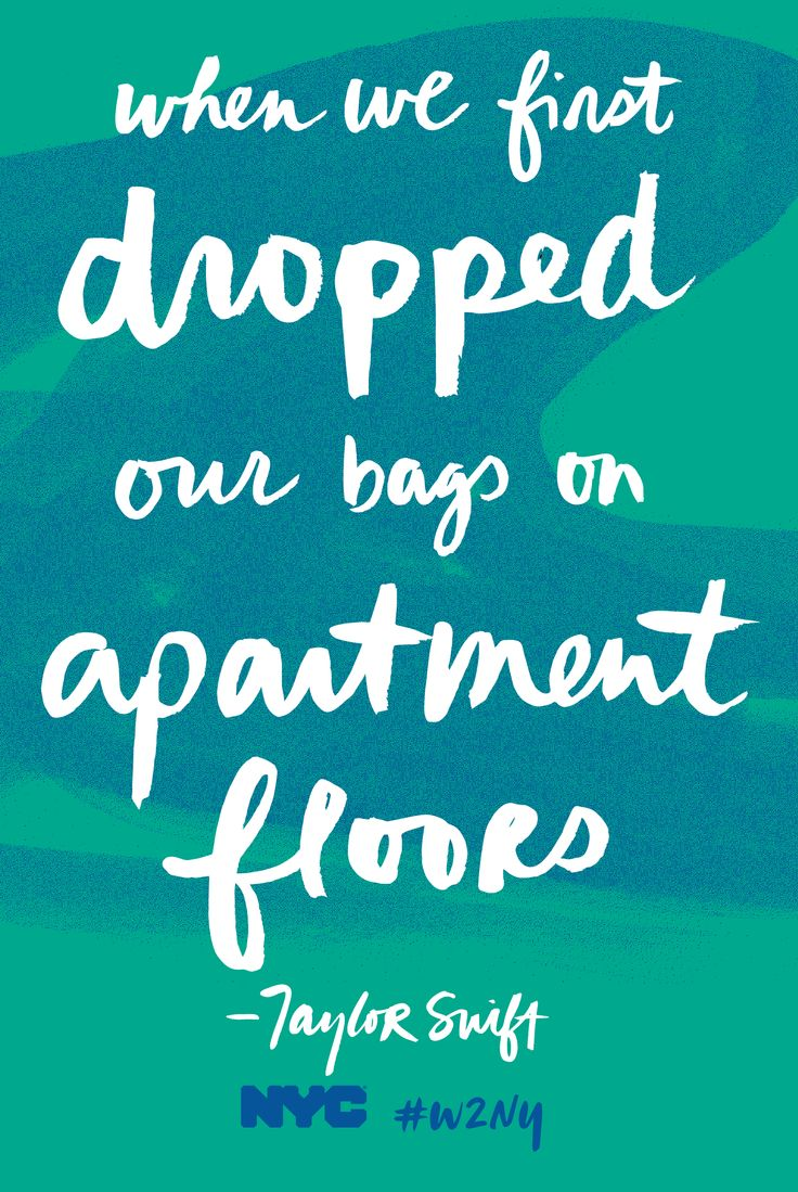 when we first dropped our bags on apartment floors
