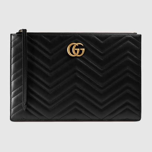 GUCCI Gg Marmont Matelassé Leather Pouch. #gucci #women's cosmetic bags