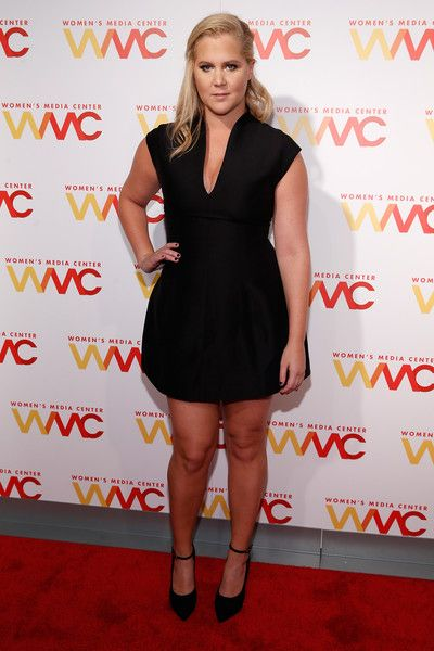 Amy Schumer Little Black Dress - Amy Schumer flaunted some leg in a super-short Halston LBD at the Women's Media Awards.