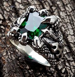 emerald mens rings- solid detailing for a solid you